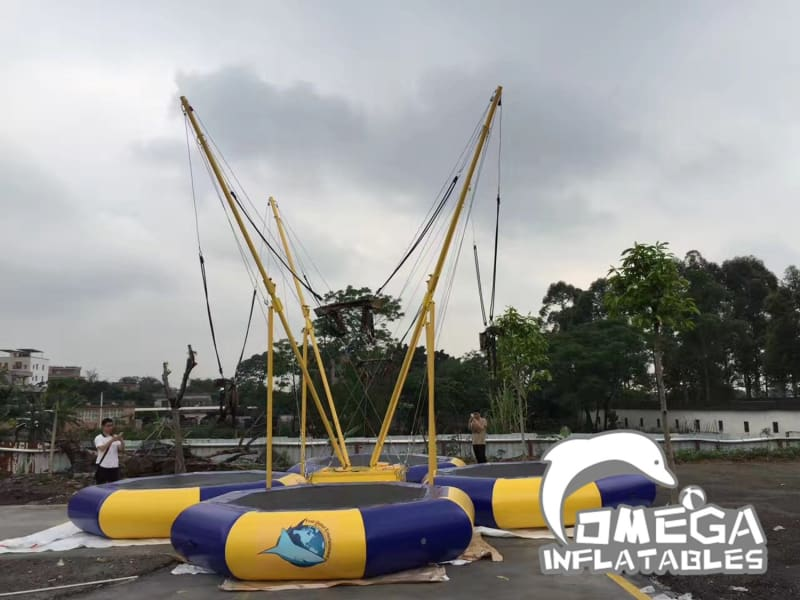 Commercial 4 Persons Inflatable Bungee Trampoline