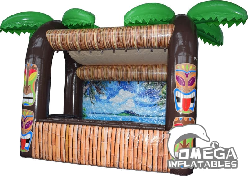 Commercial Inflatable Tiki Bar