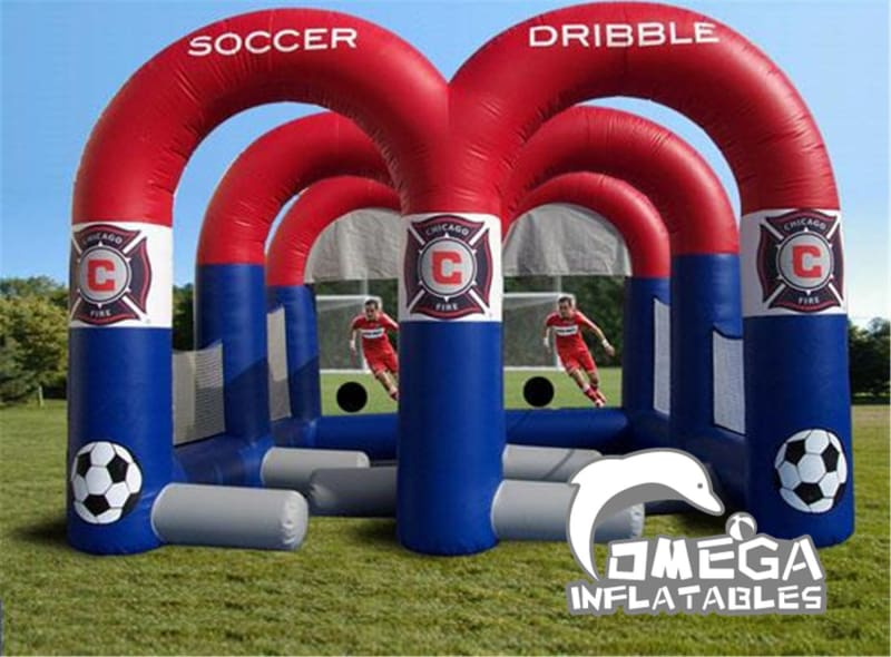 Dribble and Shoot Inflatable Football Game