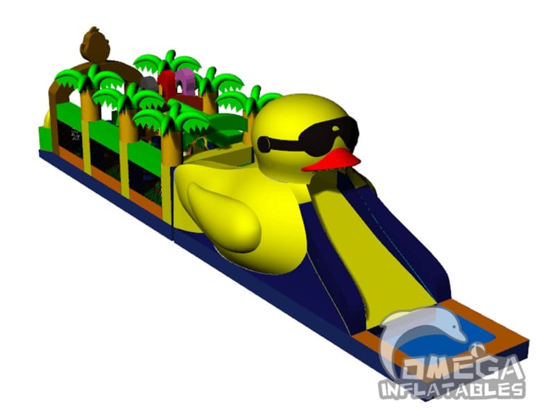 Duck and Jungle Inflatable Obstacle Course