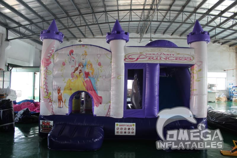 Fancy Princess Bouncy Castle with Slide