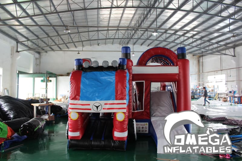 Fire Truck Inflatable Combo