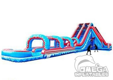 Flash 5 in 1 Dual Lane Slide W/Pop Out Fun Slip N Slide