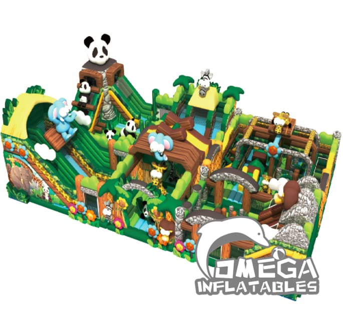 Forest Jungle Paradise Children Inflatable Castle