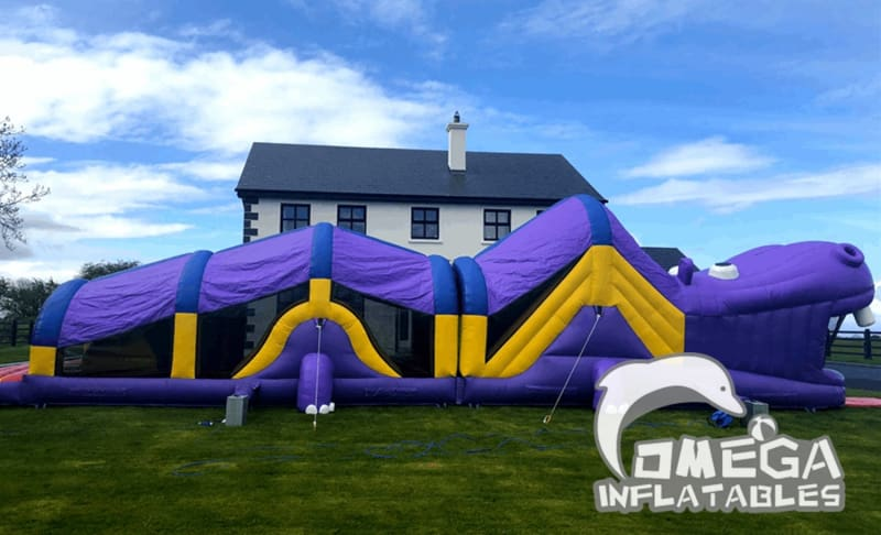 Giant Hippo Obstacle Course