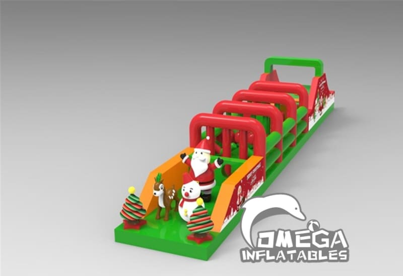 Giant Inflatable Christmas Obstacle Course
