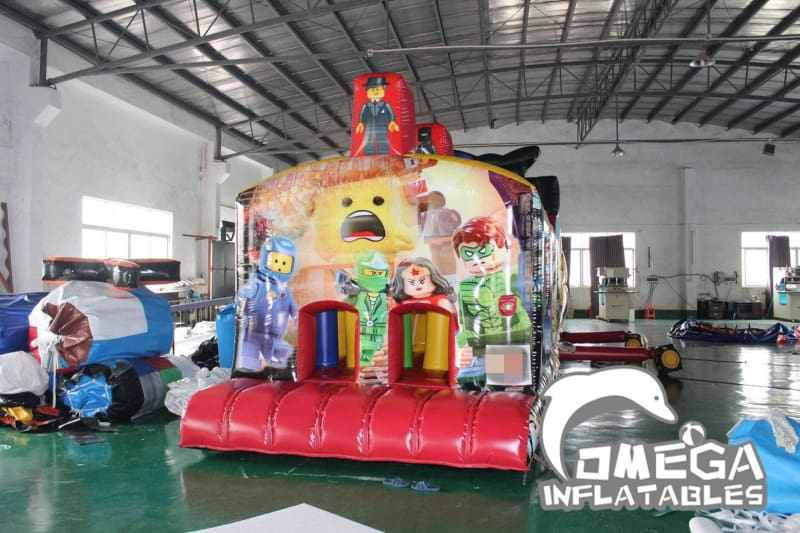 Giant Lego Inflatable Obstacle Course