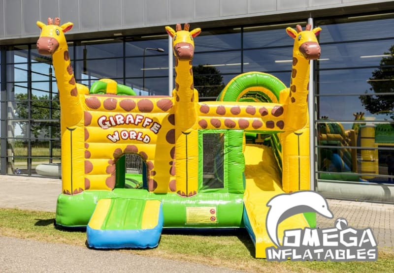 Giraffe inflatables combo jumper
