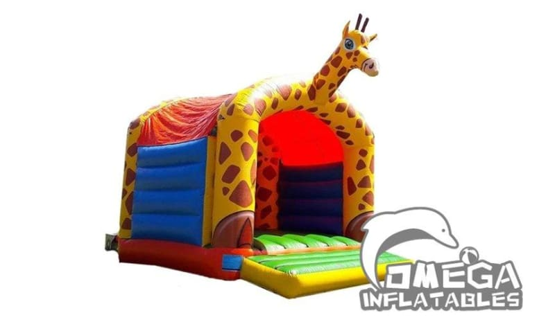 Giraffe Themed Bouncy Castle