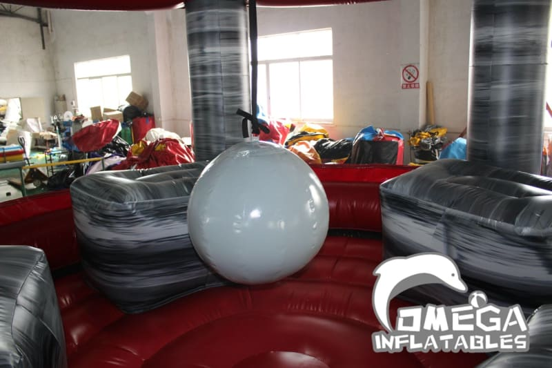 Grey Marble Inflatable Wrecking Ball - Omega Inflatables