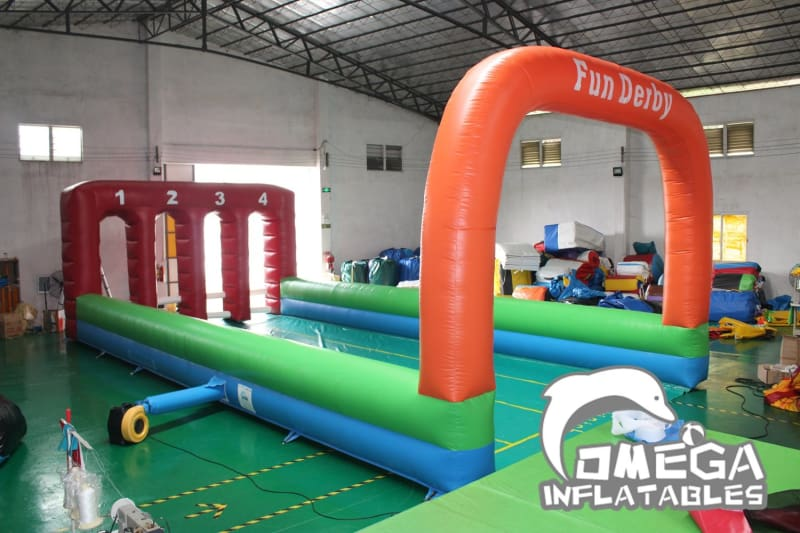 Inflatable 4 Lanes Fun Derby Game