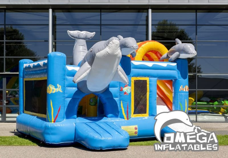 Inflatable Dolphin Jumper Combo