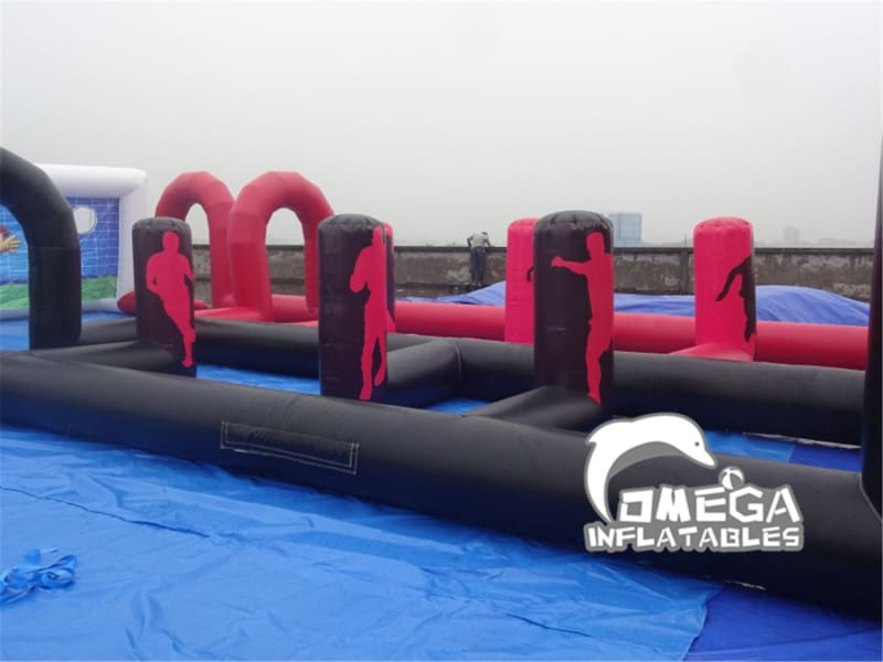 Inflatable Dribble Soccer Shooting Game