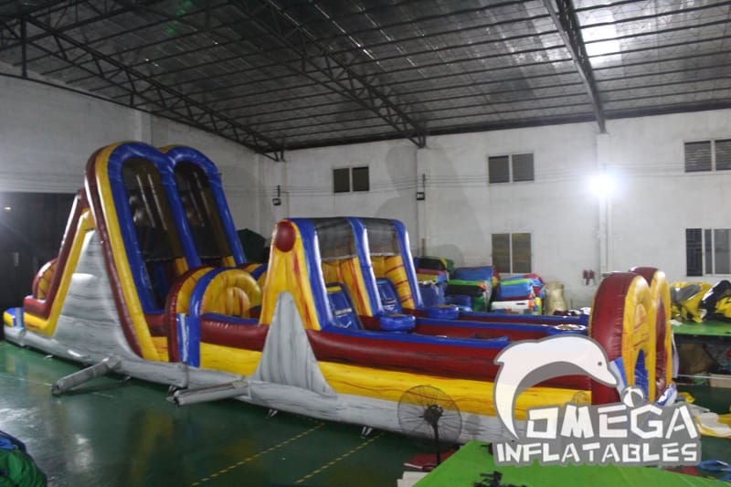 Inflatable Marble Wet Dry Obstacle Course