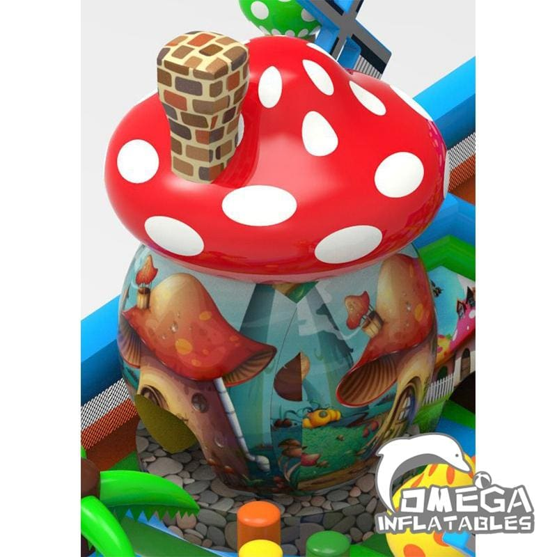 Inflatable Mushroom Bouncer Playland