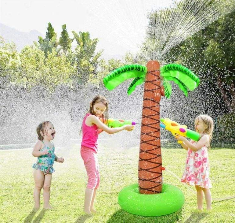Inflatable Palm Tree Yard Sprinkler Toy