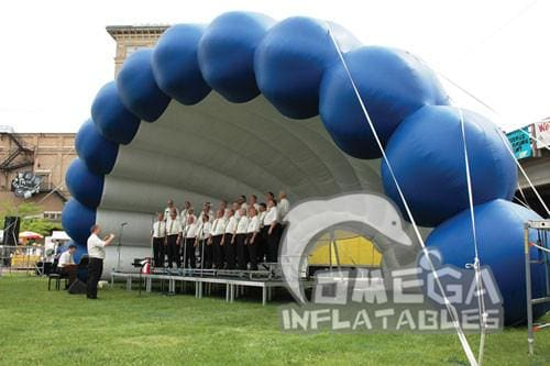 Inflatable Shell Concert Dome