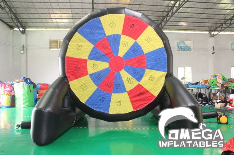 Inflatable Soccer Dart Board (Double-Sided) with Velcro Balls - Omega Inflatables