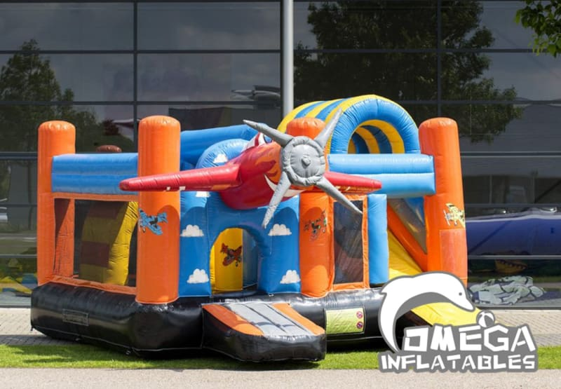Inflatables Airplane Jumper Castle Combo