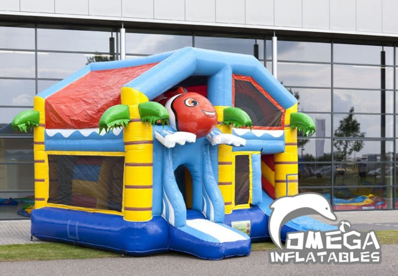Inflatables Clown fish Jumper Combo with Roof