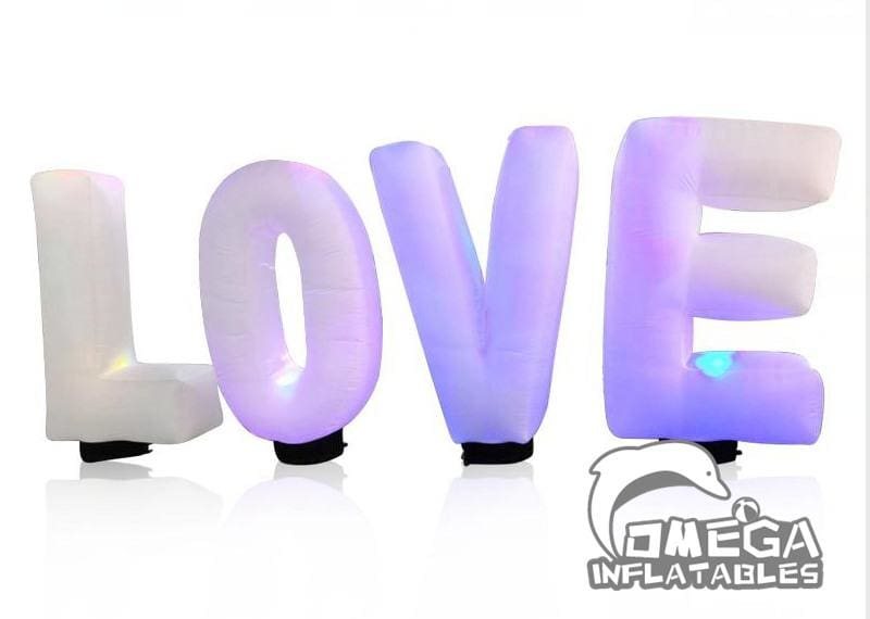 Inflatables letters/pillars/cones