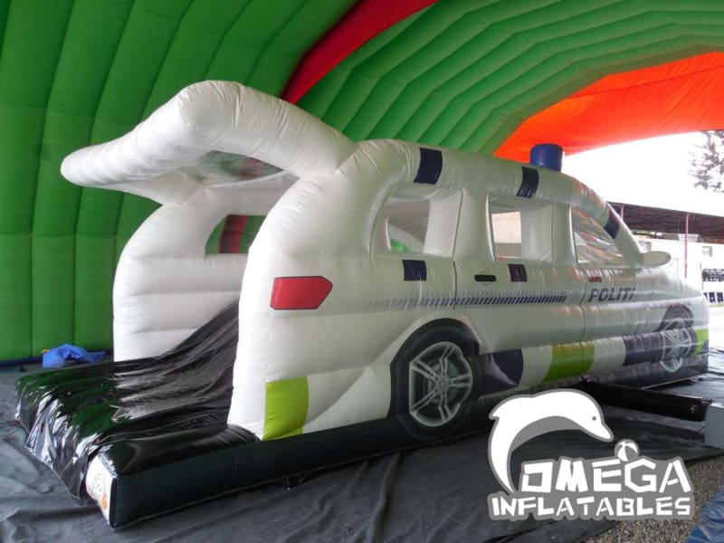 Inflatables Police Car Bouncy Castle