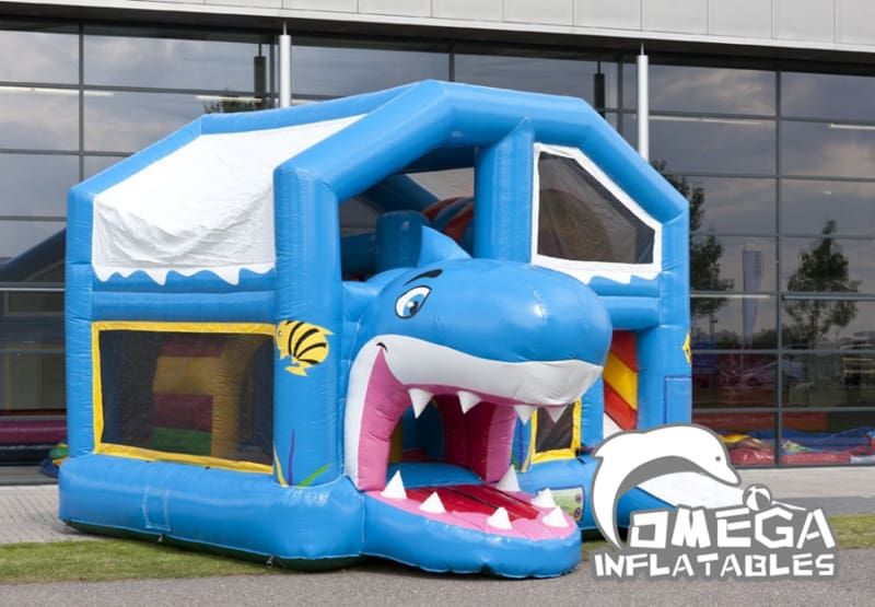 Inflatables Shark Jumper Combo with Roof