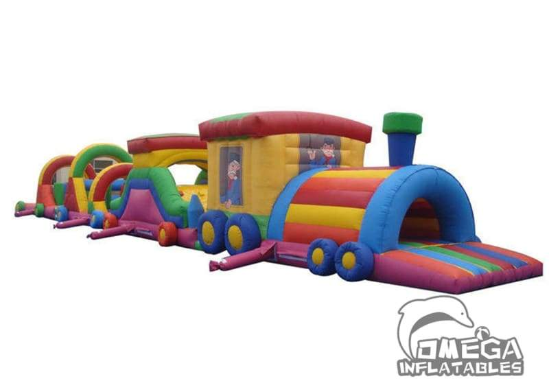 Inflatables Train Obstacle Course