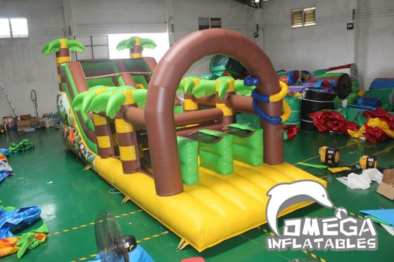 Jungle Animals Inflatable Obstacle Course