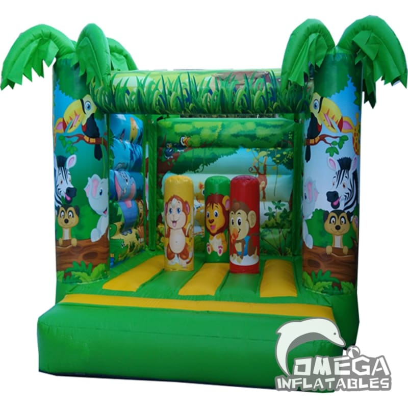 Jungle Animals Jumping Castle