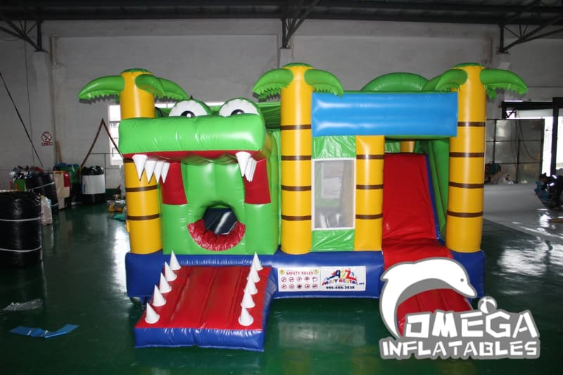 Jungle Crocodile Jumping Castle