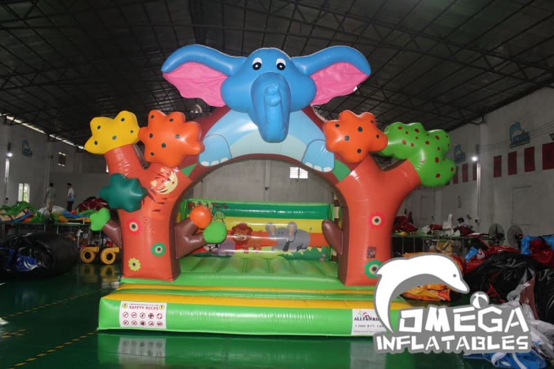 Jungle Forest Elephant Inflatable Bouncer