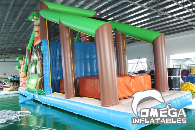 Jungle Monkey Cliff Jump - Omega Inflatables