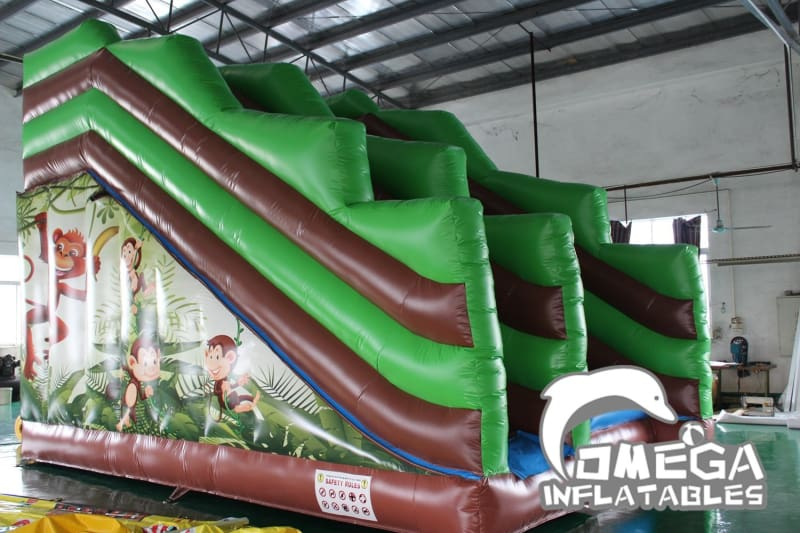 Jungle Monkey Inflatable Cliff Jump - Omega Inflatables