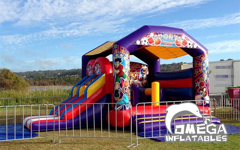 Junior Sports Hero Jumping Castle Combo