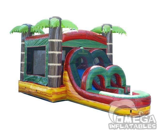 Kids Tropical Fire Marble Inflatable Combo
