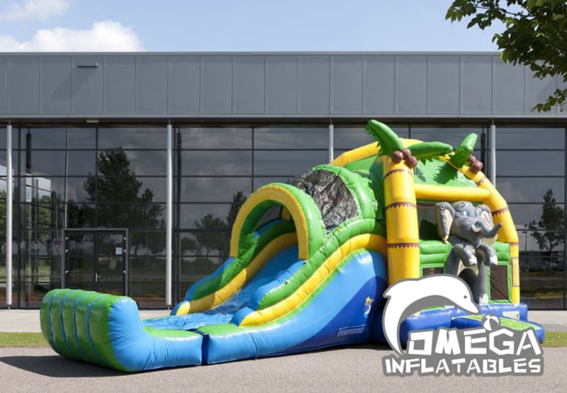 Large Inflatables Elephant Jumper Combo