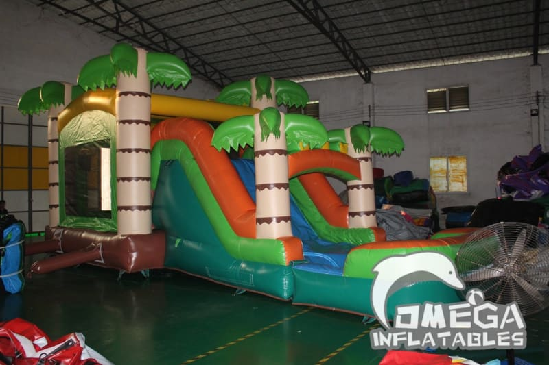 Mega Tropical Inflatable Water Combo