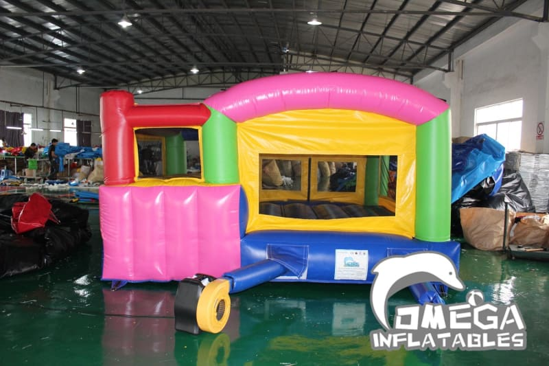 Mini Colorful Bouncy Castle with Removable Panel(used for indoor/outdoor)