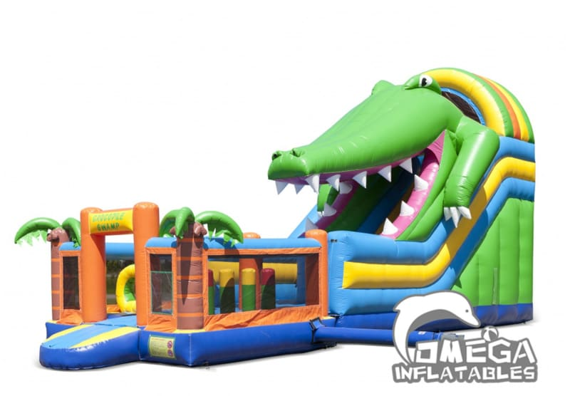 Multiplay Inflatable Crocodile Slide Playzone