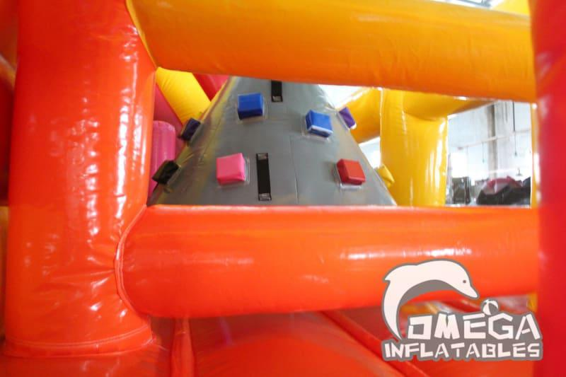 Multiple Climbing Inflatable Obstacle Course