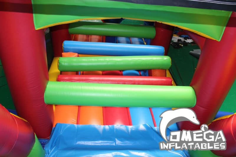 Outdoor Bricks Inflatable Obstacle Course
