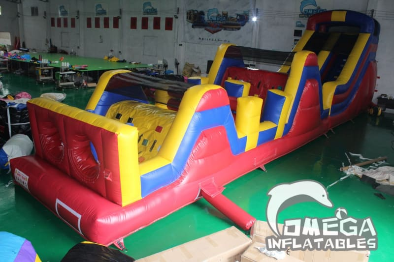 Outdoor Challenge Inflatable Obstacle Course - 50x10x15FT (15x3x4.5M) / 484LB (220KG) / 2.02CBM / Without Blower