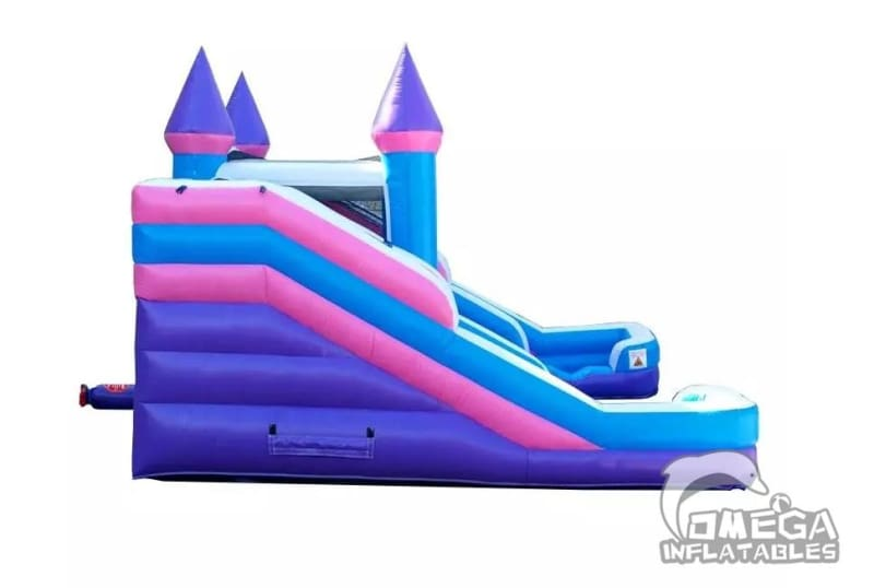 Pink Bounce House Combo With Double Slides