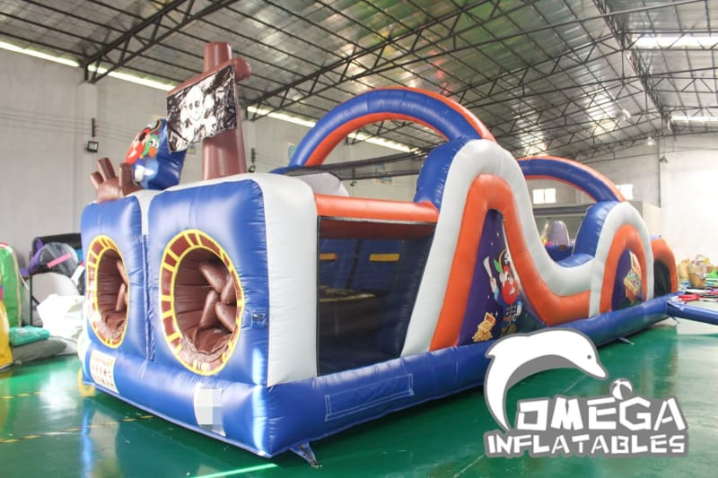 Pirate Ship Inflatable Obstacle Course