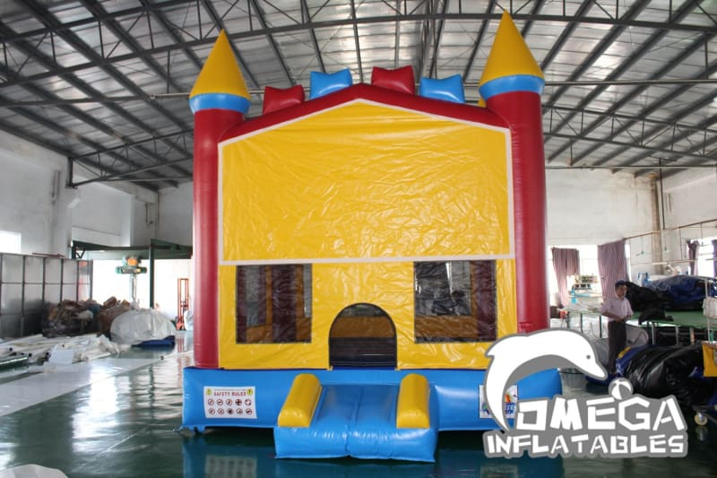 Rainbow Bricks Castle Bounce House