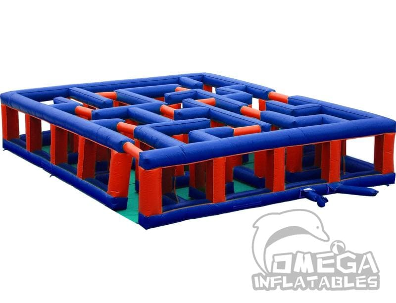 Red and Blue Inflatable Maze