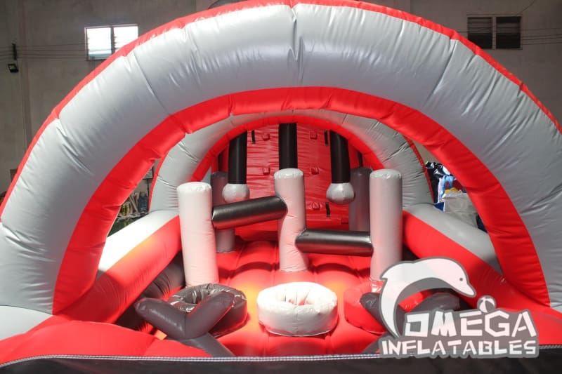 Red & Black Inflatable Climbing Obstacle Course