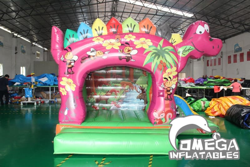 Smiling Dinosaur Bouncy Castle