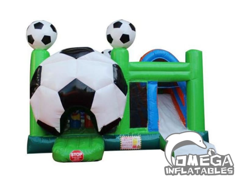 Soccer Bounce House With Slide